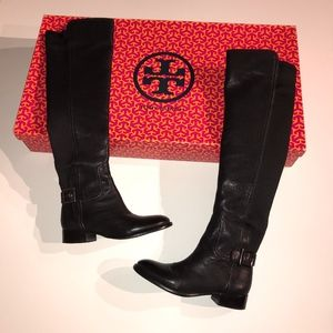 Tory Burch Jack Landed Leather Riding Boots Shoes